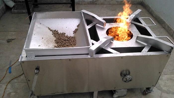 Bếp đun viên nén mùn cưa 3