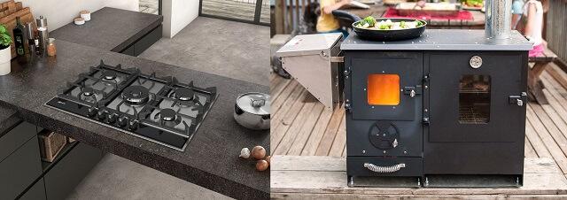 So sánh giữa bếp viên nén gỗ và bếp gas